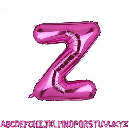 40 Inch Jumbo Pink Alphabet Mylar Foil Helium Letter Balloons Single Bridal Shower Anniversary Celebration Graduation Single Birthday Party Decorations(Z Pink)