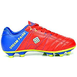 DREAM PAIRS Men's 160471-M Red Royal L.Green Cleats Football Soccer Shoes - 9.5 M US