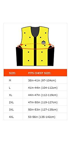 Ergodyne Chill Its 6685 Lime Dry Evaporative Cooling Vest, Large by Ergodyne (Image #3)