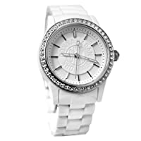 DKNY NY8011 white dial crystallized bezel plastic strap women watch  from DKNY