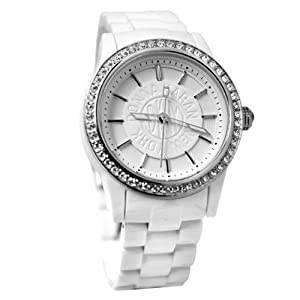 DKNY NY8011 white dial crystallized bezel plastic strap women watch  from DKNY