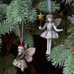 Fairy Christmas Ornaments.Amazon Com Miniature Fairy Christmas Wish Ornaments Set Of