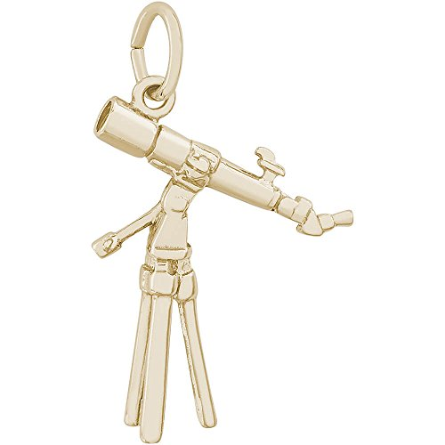 Rembrandt Charms 10K Yellow Gold Telescope Charm (0 x 0 inches) (Rembrandt 10k Charms)