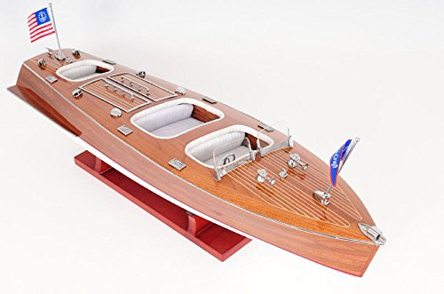Chris Craft Triple Cockpit Speed Boat Wooden Model 24