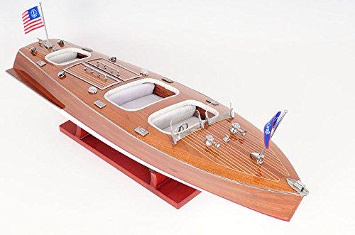"Chris Craft Triple Cockpit Speed Boat Wooden Model 24"" -  Flower Wealth, Flowweal+NauticalDecor1-328"