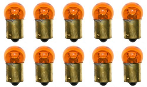 BoBoTECHNIC OPTA™ 67NA Light Bulb Auto/RV/Marine Natural Amber Replacement Miniature Lamp (Pack of 10) - Amber Miniature Eiko Light Bulb