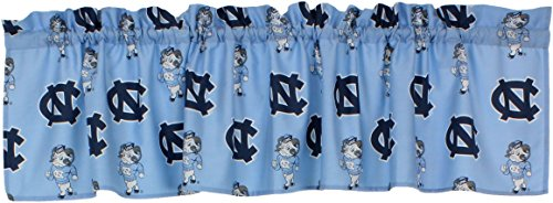North Carolina Printed Curtain - College Covers International North Carolina Tar Heels Printed Curtain Valance - 84