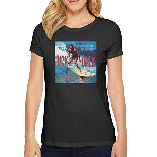 Short Sleeve Tees O-Neck Dick-Dale-King-of-The-Surf-Guitar-Cover- T-Shirt for Women