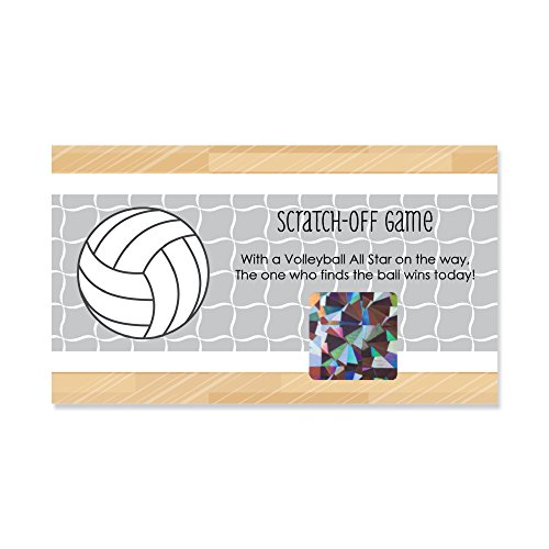 (Big Dot of Happiness Bump, Set, Spike - Volleyball - Baby Shower or Birthday Party Game Scratch Off Cards - 22 Count)