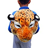 Funny Backpack,Stuffed Animal Head 3D Simulation Personalised Shoulder Bag Zipper (Multicolor, E)