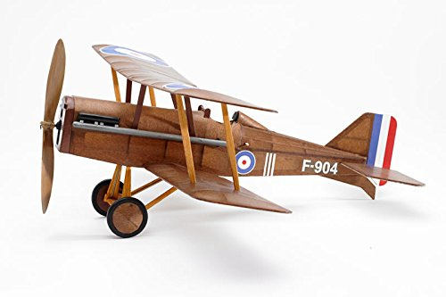 RAF SE5a WWI Bi-plane model airplane complete vintage model rubber-powered balsa wood aircraft kit that really flies! by Vintage Model Co. - Fly Model Aircraft