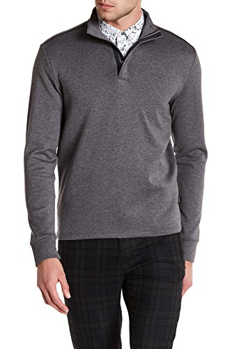 Hugo Boss Boss Men's 'Sidney' Regular Fit Quarter Zip Pullover (Grey) - - Hugo Add Boss