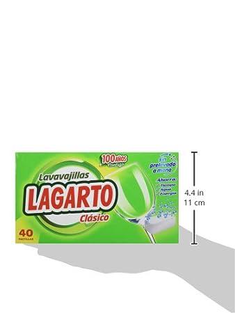 Lagarto Lavavajillas Maquina - Classico - Paquete de 4 x 40 ...