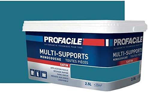 Peinture multi-support intérieur couleurs, PROFACILE 2.5 litres Bleu paon