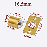 100PCS Solid Brass Cabinet Catches Ball Cupboard Wardrobe Kitchen Door Catches Furniture Latch Stopper Soft Close - (Color: 16.5mm)