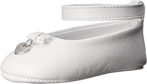 Dolce & Gabbana Kids Baby Girl's Mediterranean Ballet Flat (Infant/Toddler) White Athletic (Dolce & Gabbana Leather Flats)