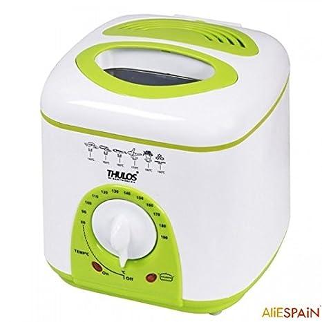 Nueva freidora eléctrica con capacidad de 1 litro de aceite, termostato y 950W. THULOS TH-FR10.: Amazon.es: Hogar