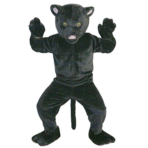 Black Leopard Panther Mascot Costume Cartoon Character Adult Sz Real Picture -