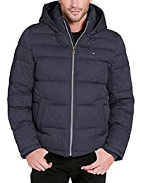 Men's Big and Tall Classic Hooded Puffer Jacket, Heather...