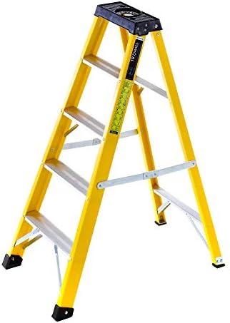 Summit - Escalera con bandeja para herramientas (fibra de vidrio): Amazon.es: Bricolaje y herramientas