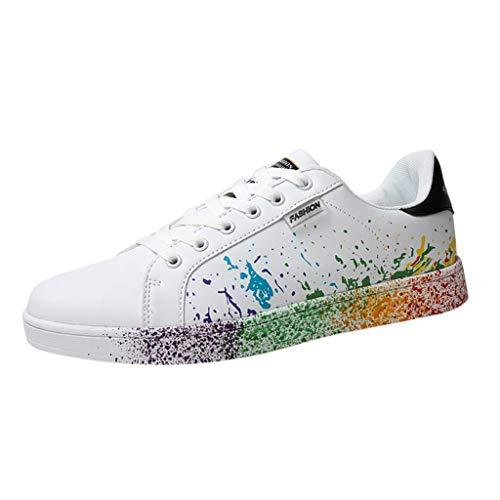 Sunhusing Women's Color Graffiti White Shoes Sports Shoes Running Shoes Men Women Casual Shoes Lovers Shoes]()
