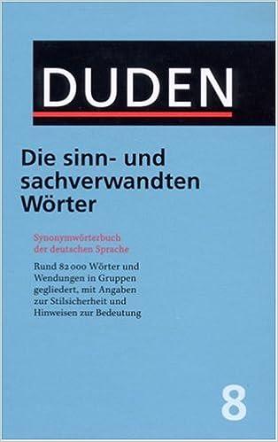 Duden: Die sinn- und sachverwandten Wörter: Amazon.de: Wolfgang ...