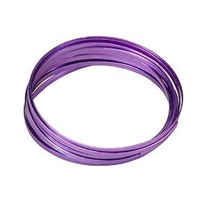 "Aluminium Wire Purple Color 39"" Length 12 Gauge Aluminum"