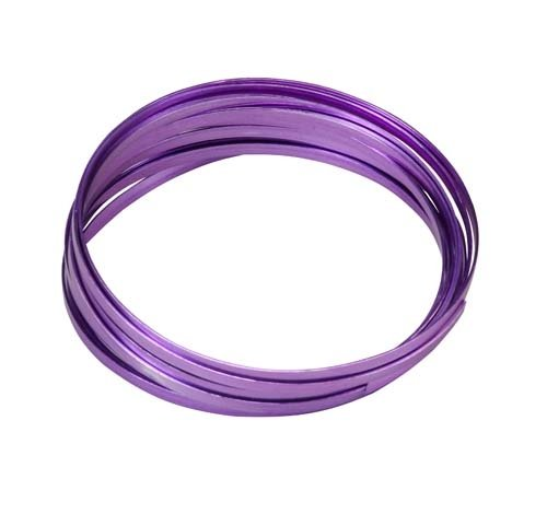 "Aluminium Wire Purple Color 39"" Length 12 Gauge Aluminum"