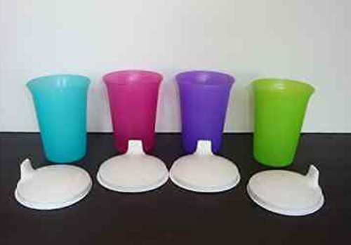 Tupperware Bell Tumbler Sippy Cups with Seals Set of 4 New