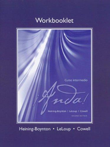 Workbooklet (printed) for ¡Anda! Curso intermedio