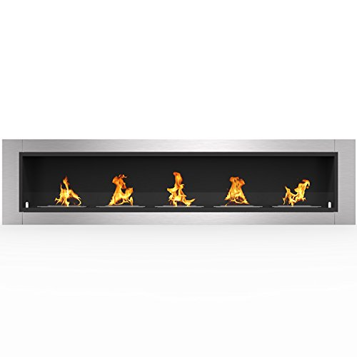 stainless fireplace - 9