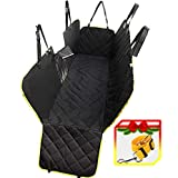 UMMER Dog Car Seat Covers Back Seat Cars Trucks SUV Waterproof Hammock Mesh Window Side Flaps Durable Anti-Scratch Nonslip Washable Pet Car Seat Cover Car Rear Back Seat Cover Protector Mat Ultrasonic Review
