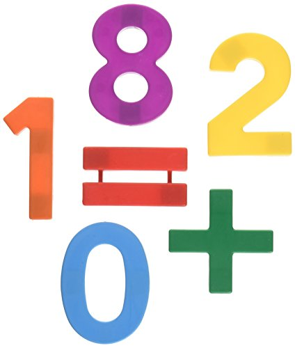 School Smart Jumbo Magnetic Numbers in Storage Tub - 2 1/2 inches - Set of 42 - Multiple ()