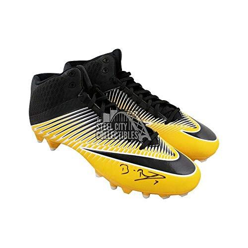 Ben Roethlisberger Autographed Signed Memorabilia Yellow Nike Football Cleats - Beckett Coa Ben Roethlisberger Autographed Football