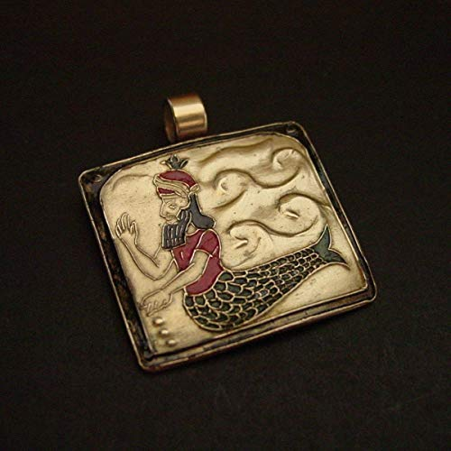 (Dagon Assyrian Mesopotamian Sumerian Fish and Fertility God Necklace)