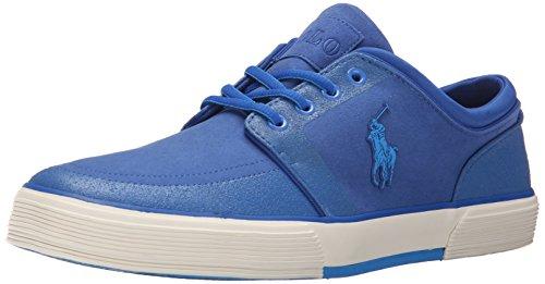Polo Ralph Lauren Mens Faxon Low Nubuck Fashion Sneaker Royal