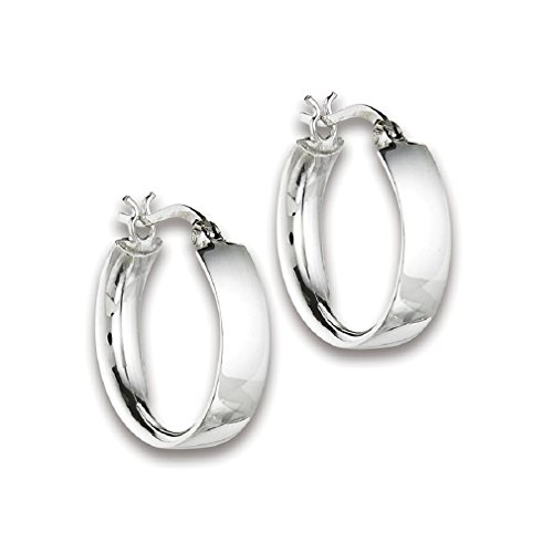Sterling Silver Continuous Round Earrings