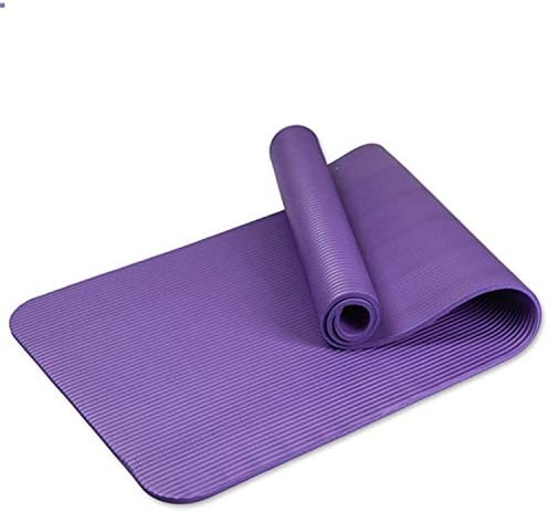 Eco friendly ヨガマット、ノンスリップテクスチャプロフェッショナルヨガマット、エコスポーツとフィットネスマット、ヨガに適した、ピラティス、床運動、ブルー、グリーン、ピンク、パープル exercise (色 : Blue)