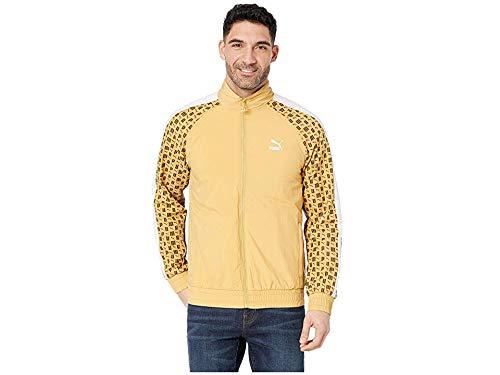 Honey Mustard Brands - PUMA Men's Lux Woven T7 Track Jacket Honey Mustard/Whisper White XXX-Large