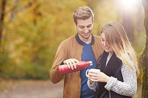 FLSK Isolierflasche Trinkflasche heiß, kalt, Paar Liebe im Park Blondine Herbst