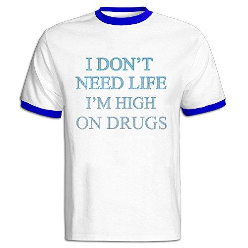 man-i-dont-need-life-100-cotton-royalblue-small-t-shirts