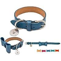 LONDOG Collar de Piel para Perro Personalizable Hecho a Mano. Modelo Yaxha (Varios tamaños y Colores)