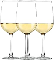 CREATIVELAND Crystal Wine Glass-Great For White And Red Wine-Lead-Free Clear Classic Wine Glasses Set of 4 for