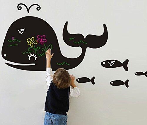 Fangeplus(TM) DIY Removable Whale Blackboard Art Mural Vinyl Waterproof Wall Stickers Kids Room Decor Nursery Decal Sticker Wallpaper 35.4''x23.6'' (Mural Whale)