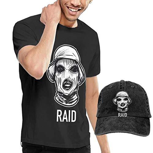 OYQGEJGPJA Schoolboy Q Men's T-Shirt and Hats Black L