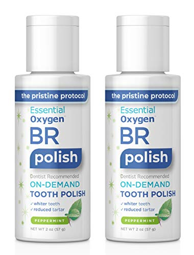 Essential Oxygen BR On-Demand Tooth Polish, Peppermint, 2 Ounce, 2 Count ()