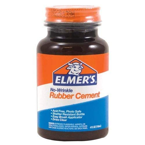Elmer's Products E904 Rubber Cement, 4-oz. Bottle - Quantity 12