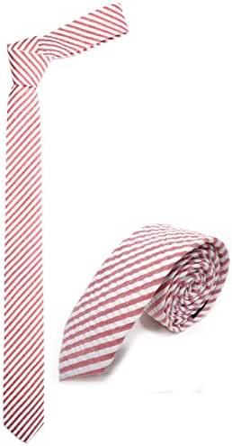 100% Premium Cotton Handmade Striped Mens Skinny Tie 2