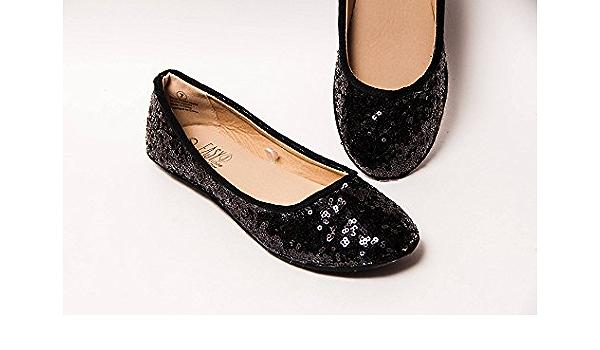 Amazon.com: Black Sequin Ballet Flats