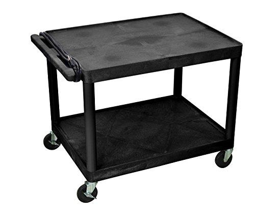 Offex AV Carts, 2 Shelves (LP27E-B) by Offex